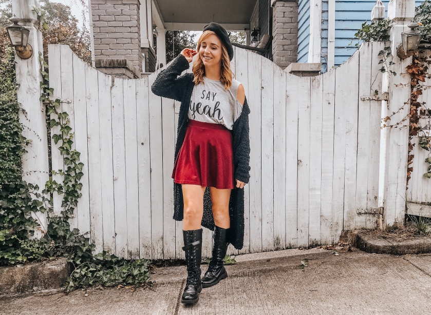 Berets & Boots OOTD – The Redhead Chronicles